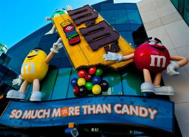 M&M's World on the Las Vegas Strip on Sept. 1, 2010.