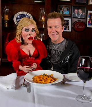 Jeff Dunham and Diane at Rao's in Caesars Palace.