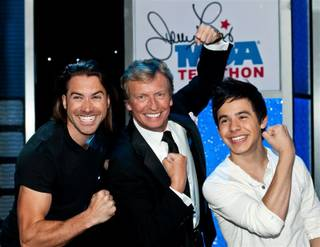 The 2010 Jerry Lewis Muscular Dystrophy Association Telethon at South Point. Ace Young, Nigel Lythgoe and David Archuleta are pictured here.