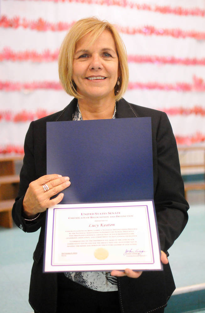 Principal Lucy Keaton of Halle Hewetson Elementary School in North Las Vegas has been named a National Distinguished Principal by the National Association of Elementary School Principals.