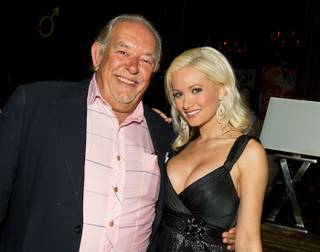 Robin Leach and Holly Madison at Leach and Michael Boychuck's birthday party at Blush in the Wynn on Sept. 10, 2010.