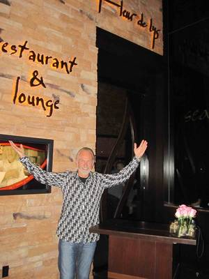 Chef Hubert Keller waves goodbye to Fleur de Lys in the Mandalay Bay.