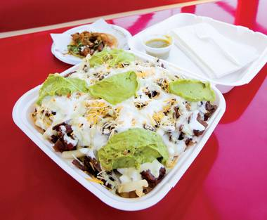 This Tijuana taco titan maintains shops Downtown and on the Strip.