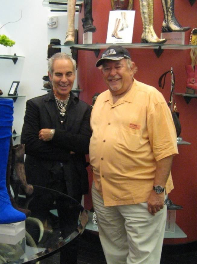Shoe designer Donald Pliner with Robin Leach.
