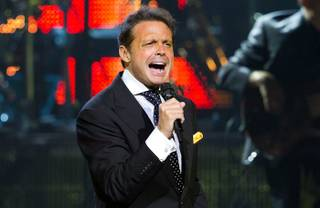 Luis Miguel performs at The Colosseum in Caesars Palace on Sept. 15, 2010.