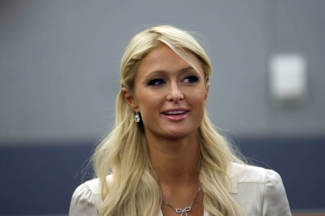 Paris Hilton waits in the courtroom at the Regional Justice Center in Las Vegas, September 20, 2010. Hilton pleaded guilty to charges stemming from her arrest for cocaine possession at the Wynn Las Vegas.