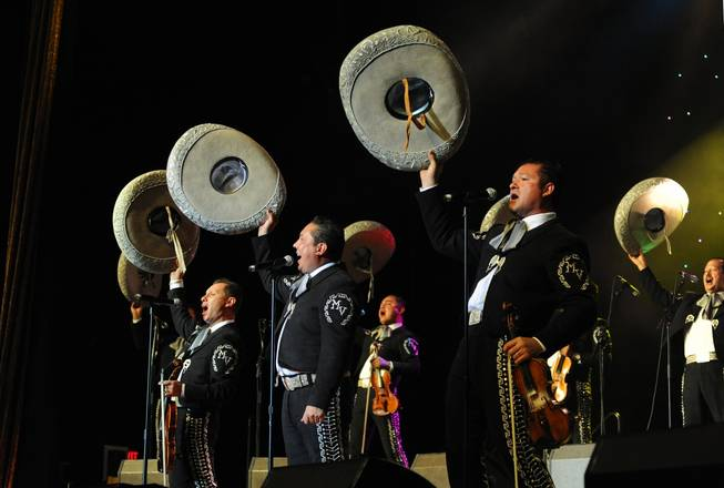Mariachi Vargas performs during the 2010 Las Vegas International Mariachi Festival at the Rio on Sept. 18, 2010.