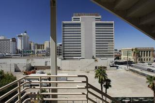 A view of the shuttered Lady Luck casino from the City Hall parking garage in downtown Las Vegas September 21, 2010. The Lady Luck, closed since 2006, is owned by the Los Angeles based CIM Group. STEVE MARCUS / LAS VEGAS SUN