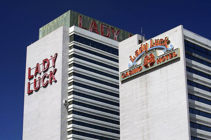 A view of the Lady Luck hotel towers in downtown Las Vegas September 21, 2010. The Lady Luck, closed since 2006, is owned by the Los Angeles based CIM Group. STEVE MARCUS / LAS VEGAS SUN