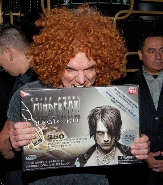 Carrot Top at Criss Angel's Mindfreak Platinum Magic Kit release ...