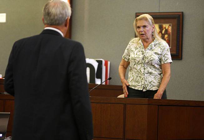 Costco shopper Annette Eatherton testifies during a coroner's inquest for Erik Scott at the Regional Justice Center Friday, September 24, 2010.