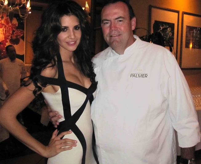 Hope Dworaczyk and Charlie Palmer at Wolfgang Puck's 2010 Meals on Wheels two-day fundraiser in Los Angeles.