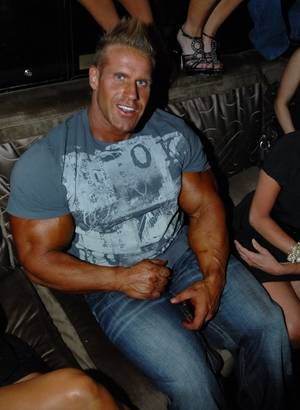 Jay Cutler celebrates his fourth Mr. Olympia title at Blush in the Wynn on Sept. 25, 2010.