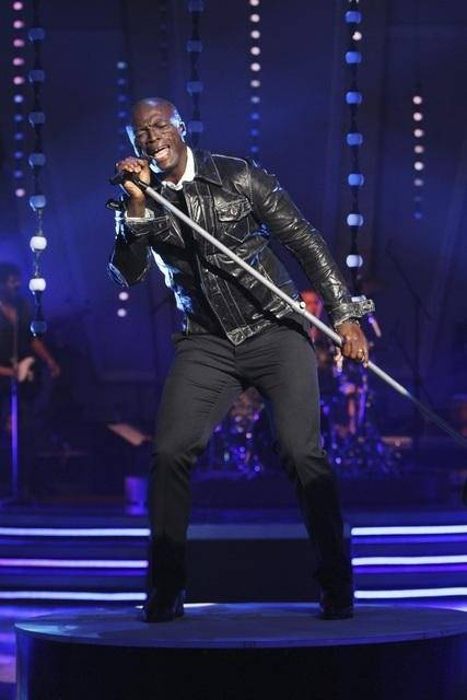 Seal on Season 11 and Week 2 of ABC's Dancing With the Stars on Sept. 28, 2010.