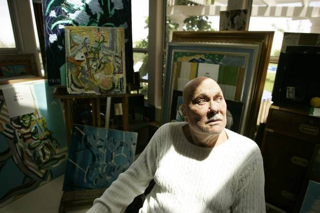 Actor and artist Tony Curtis sits in the art studio at his Henderson home in this June 2007 portrait.