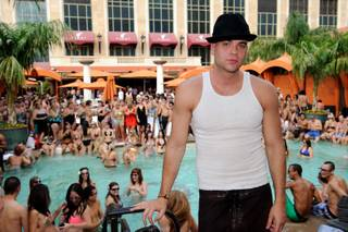 Mark Salling at Tao Beach in The Venetian on Oct. 2, 2010.