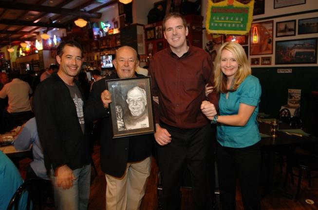 Jeff Marks, Robin Leach, Scott Frost and Megan Powell at ...