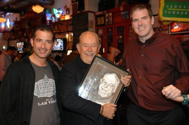 Jeff Marks, Robin Leach and Scott Frost at Hussong's Cantina ...