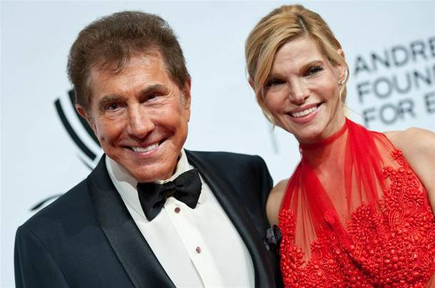 Steve Wynn and Andrea Hissom on the Andre Agassi Grand Slam red carpet at the Wynn on Oct. 9, 2010.