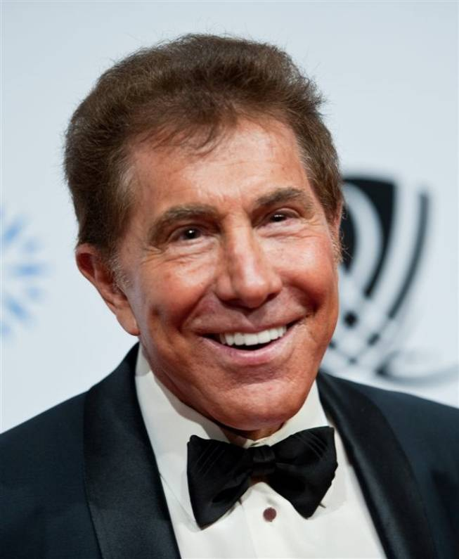 Steve Wynn on the Andre Agassi Grand Slam red carpet at the Wynn on Oct. 9, 2010.