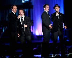 The Canadian Tenors perform during the Andre Agassi Grand Slam benefit concert at the Wynn on Oct. 9, 2010.