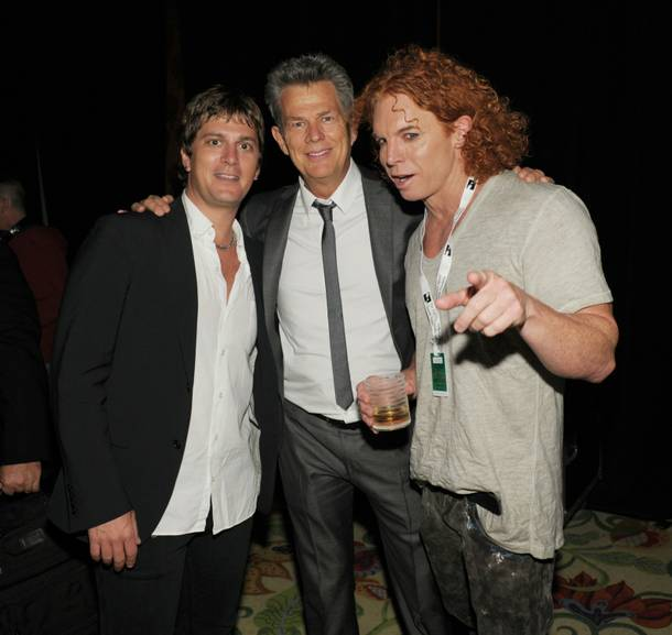 Rob Thomas, David Foster and Carrot Top at the Andre Agassi Grand Slam benefit at the Wynn on Oct. 9, 2010