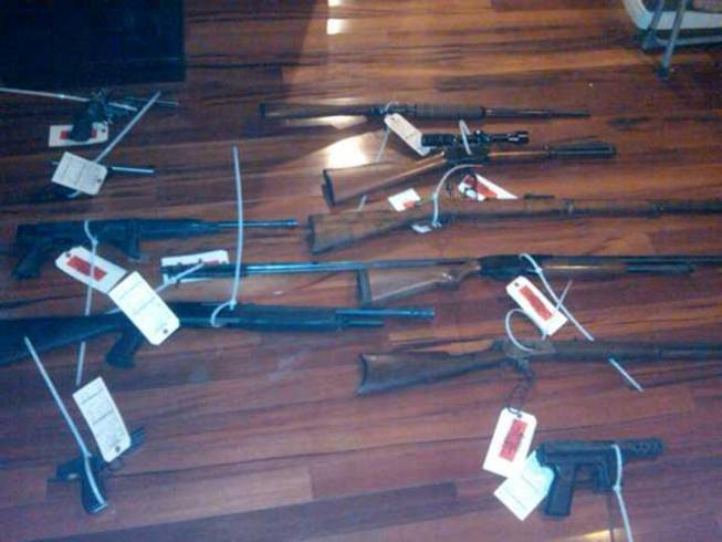 Guns seized in the case.