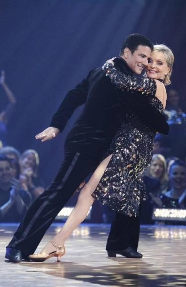 Corky Ballas and Florence Henderson on ABC's <em>Dancing With the Stars</em> on Oct. 11, 2010.