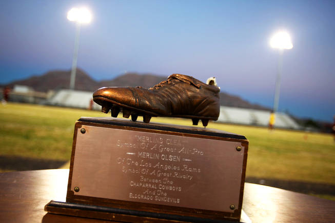 The Cleat is the prize for the winner of the annual football game between Chaparral and Eldorado.