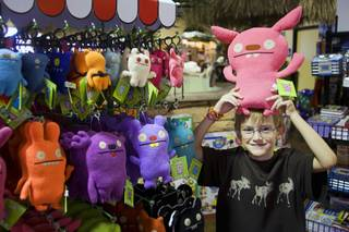 Noah Stefaniak, 9, poses with an Ugly Doll at Kettlemuck's Toy Shoppe, 10895 S. Eastern Ave., in Henderson on Thursday, Oct. 14, 2010. The shop had a soft opening on Oct. 9 and plans a grand opening next month.