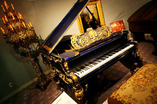 Many vintage custom-designed pianos were on display for the final time during the last day of business of the Liberace Museum on Sunday.