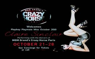 Claire Sinclair rehearses for Crazy Horse Paris at MGM Grand.