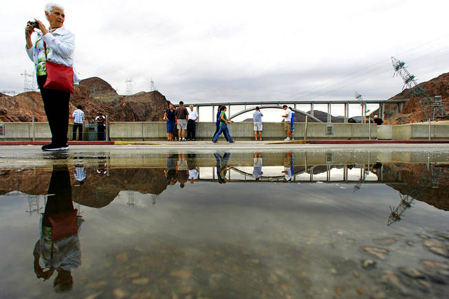 Hoover Dam bypass bridge opens to traffic - Las Vegas Sun