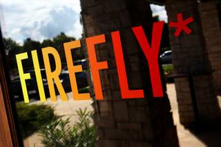 The door to Firefly, near Summerlin, is shown Thursday, Oct. 21, 2010. This is third location for the tapas restaurant owned by local chef John Simmons, who also owns and operates the original Firefly, on Paradise Road, and Firefly at the Plaza casino in downtown Las Vegas.