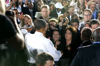President Barack Obama's speech outside Orr Middle School at a