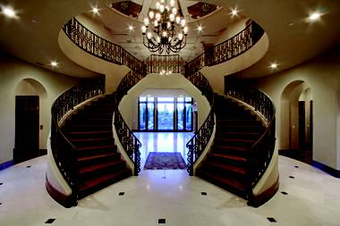 The home at 30 Olympia Hills Circle sold for $5.6 million in May 2012, one of the most expensive residential real estate transactions of the year. This is a view of the home's foyer.