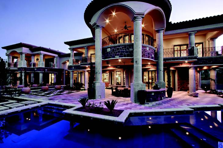 Eight bedrooms, 13 bathrooms, 14,148 square feet: The residence at 30 Olympia Hills Circle was among the most expensive homes sold in Las Vegas during 2012.