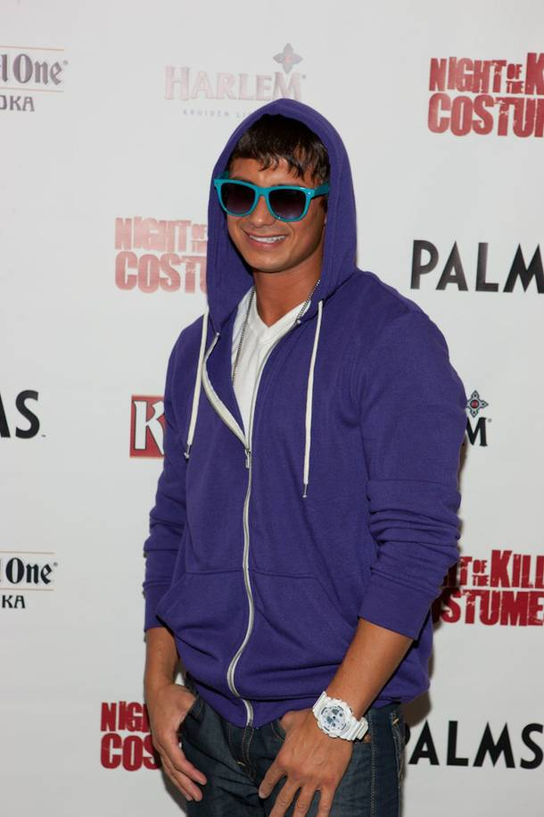 DJ Pauly D as Justin Bieber at Moon in the Palms on Oct. 30, 2010.