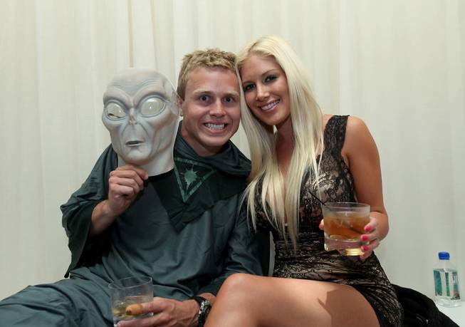 Spencer Pratt and Heidi Montag at Pure in Caesars Palace on Oct. 30, 2010.