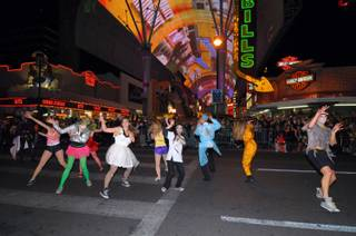The Las Vegas Halloween Parade at Fremont Street Experience on Oct. 31, 2010.