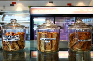 A sampling of biscotti is on display Thursday, Nov. 4, 2010, at Layers Bakery Cafe, 665 S. Green Valley Parkway, in Henderson.