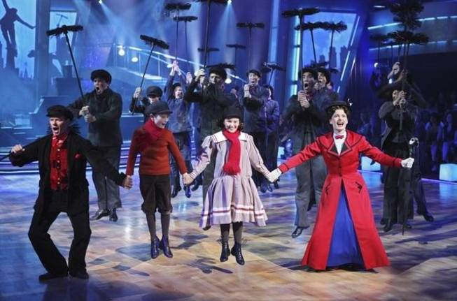 The cast of Broadway's <em>Mary Poppins</em> on <em>Dancing With the Stars</em> on Nov. 2, 2010.