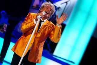 Rod Stewart performs at The Colosseum in Caesars Palace on Nov. 6, 2010.