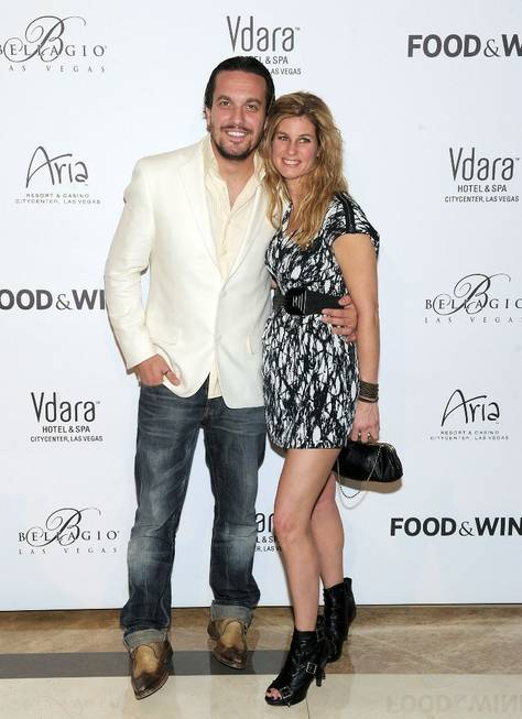 Fabio Viviani and Jennifer Carroll at Vdara on Nov. 5, ...