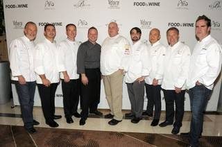 Las Vegas Chefs at Food & Wine All-Stars weekend at Vdara on Nov. 5, 2010.