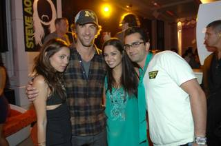 Michael Phelps, Antonio Esfandiari and friends at Blush in the Wynn.
