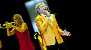Rod Stewart at The Colosseum in Caesars Palace on Nov. 6, 2010.