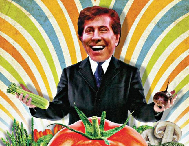 Steve Wynn can't just eat. He eats, and he opines.