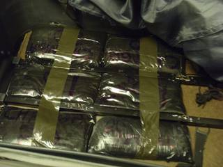 Police say about $1 million in black tar heroin was contained in luggage that was seized at McCarran International Airport.