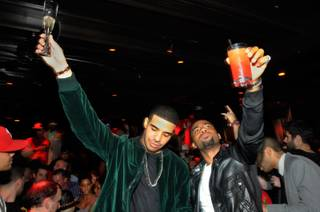 Drake and Jas Prince at Tryst in the Wynn on Nov. 6, 2010.